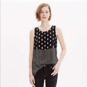 Madewell Black and White Tank Top Blouse